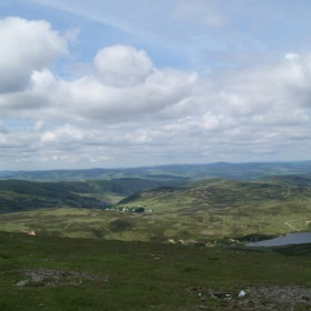 The view north from the top of Green Lowther, the highest point on the Estate