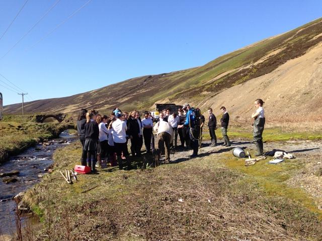 Biggar High pupils at the Glengonnar